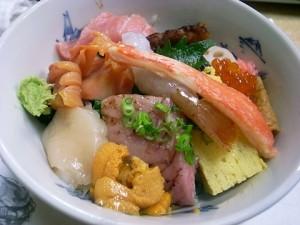 赤貝付き海鮮丼